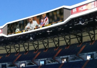 Real Madrid C.F. awards AUDITEL the new video scoring boards and audiovisual control room at the Santiago Bernabéu ...